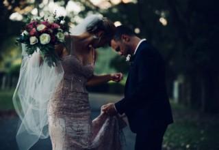 Bundaleer Rainforest Gardens Brisbane Wedding Venue Bride And Groom Outdoor Portrait