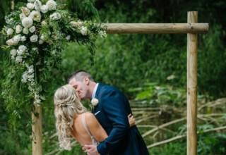 Bundaleer Rainforest Gardens Brisbane Wedding Venue Couple Garden Ceremony