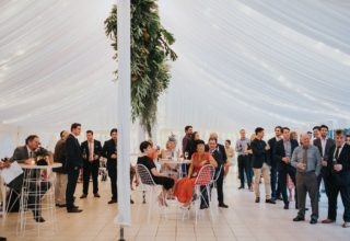Bundaleer Rainforest Gardens Brisbane Wedding Venue Guests Inside Marquee