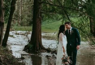 Bundaleer Rainforest Gardens Brisbane Wedding Venue Couple Forest