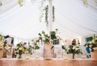 Bundaleer Rainforest Gardens Brisbane Wedding Venue Inside Marquee