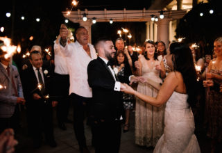 The Ivory Elsternwick Melbourne Wedding Venue Love And Other Photography Couple Rose-Garden Terrace Night Lights Sparklers
