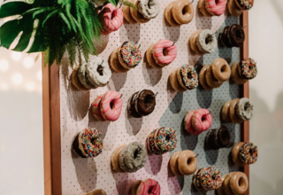The Ivory Elsternwick Melbourne Wedding Venue Donut Wall