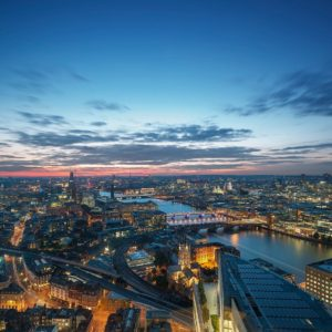 Shangri-La The Shard London city skyline view