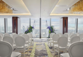 Shangri-La Hotel, At The Shard, London, Ren Ballroom wedding ceremony