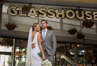 The Island Gold Coast, Surfers Paradise, Waterfront Wedding Venue, The Glasshouse, Couple Close Up