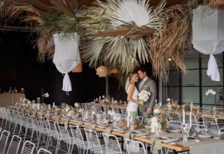 The Island Gold Coast, Surfers Paradise, Waterfront Wedding Venue, The Glasshouse, Couple Plants