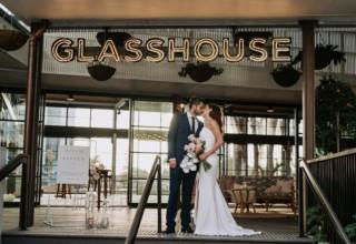 The Island Gold Coast, Surfers Paradise, Waterfront Wedding Venue, The Glasshouse, Exterior Couple