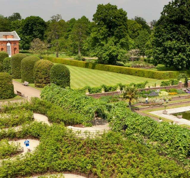 Kensington Palace Gardens, Wedding Venue London, View of Sunken Garden