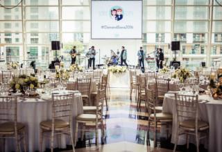 East Wintergarden Canary Wharf London City Wedding Ceremony Reception